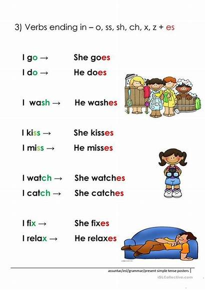Person Present Simple Rules 3rd Grammar Worksheets