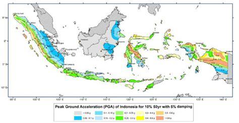 earthquake hazard map peak ground acceleration pga
