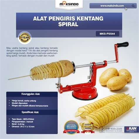 Alat Pengiris Kentang Mustofa jual alat pengiris kentang spiral mks pss44 di tangerang