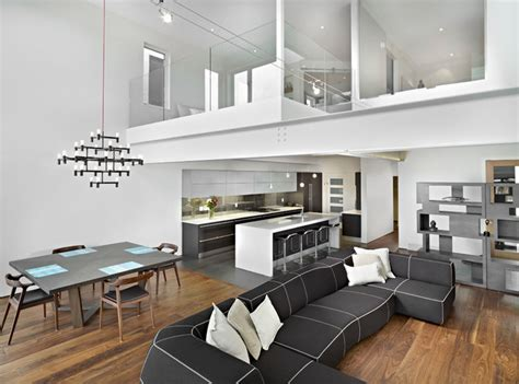 living room dining  kitchen modern living room edmonton  habitat studio