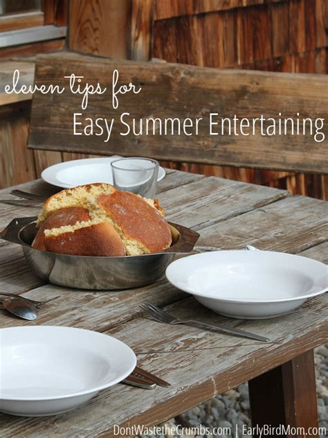 11 Tips For Easy Summer Entertaining  Enjoy Good Food And