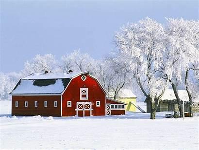 Barn Winter Scenes Farm Landscapes Canada Wallpapersafari