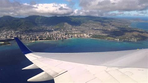 Leaving Hawaii View From The Plane Youtube