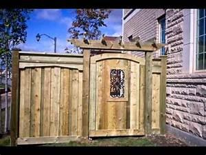 Wood Gates Wood Gates and Arbors - YouTube
