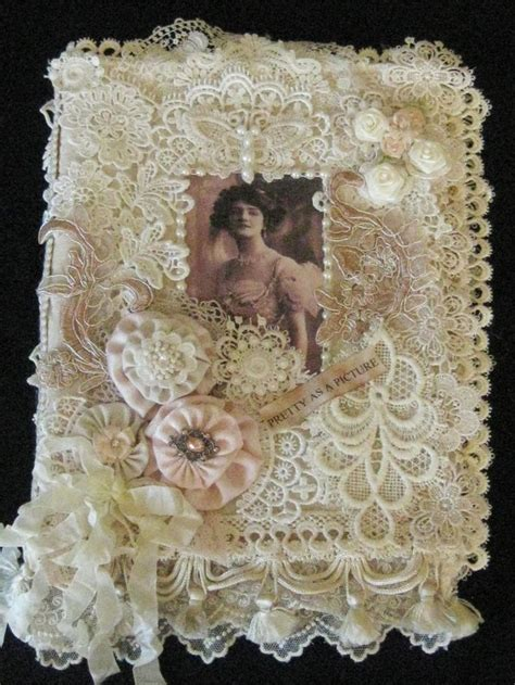 shabby chic fabric journals 136 best images about my creations on pinterest vintage picture frames shabby chic and mixed