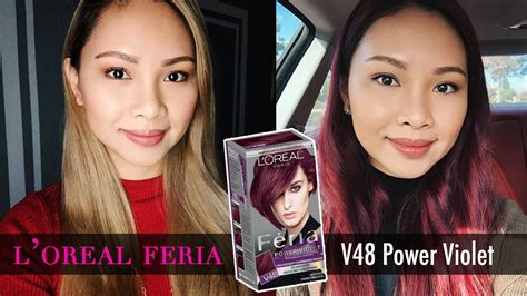 loreal feria  power violet hair color tutorial full