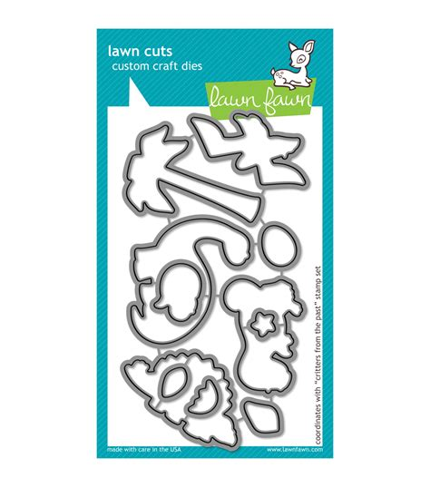 lawn fawn lawn cuts custom craft die critters from the past at joann