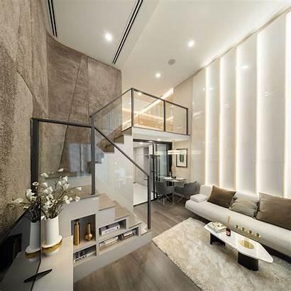 Apartment Modern Luxury Loft Studio Bangkok Space