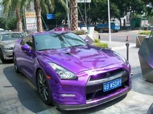Nissan GT R is shiny purple in China CarNewsChina