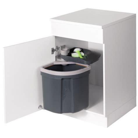 poubelle de cuisine coulissante poubelle flexx 1 bac 35l gris