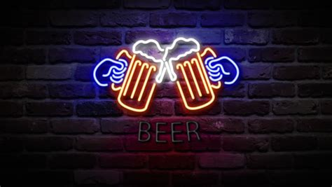 what were beer neon colors in the 50s and 60s colors bar stock footage