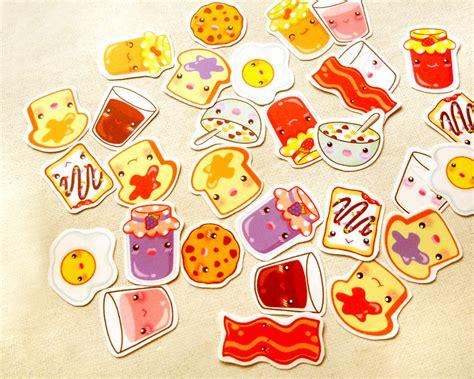 fruit nail sticker breakfast stickers kawaii stickers food stickers erin