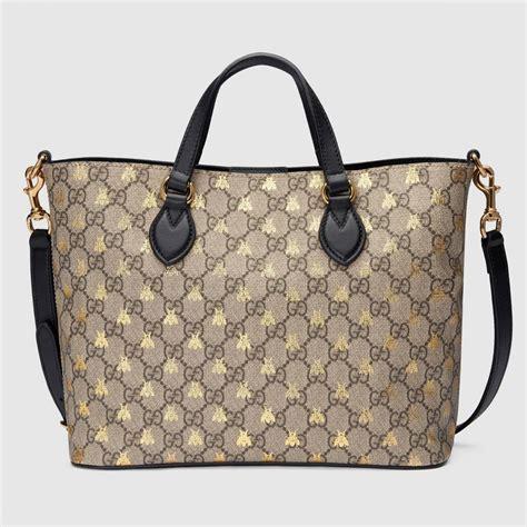Damen Gucci Taschen ? Shopper aus GG Supreme mit Bienen