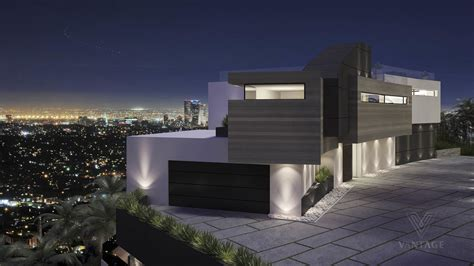spectacular modern architecture home plans modern home overlooking city interior design ideas