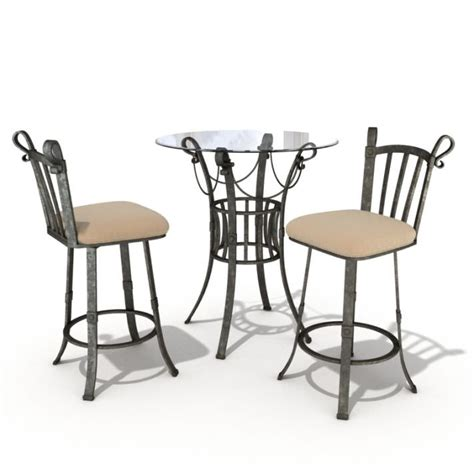 bistro table and 4 chairs bistro set table and chairs 3d model cgtrader com
