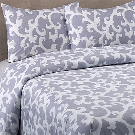 vera wang scrolls comforter set  blue purple bed bath