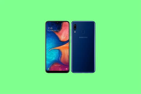 samsung galaxy a20 with 6 4 quot infinity v display and exynos 7884 launched in russia