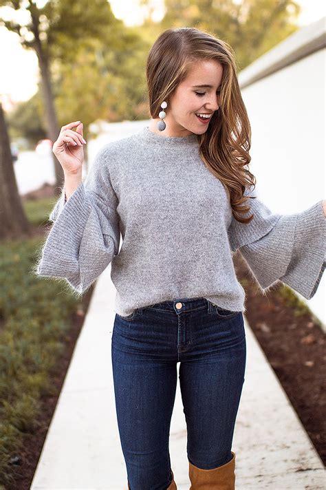 ruffle sleeve sweater  lonestar state  southern