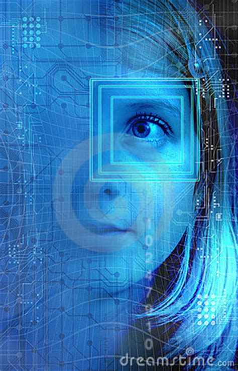 technology girl stock photo image
