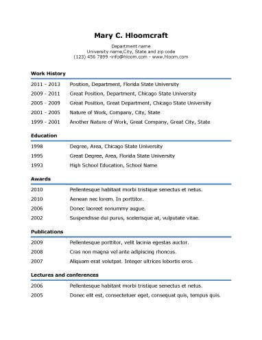 Simple Professional Resume Template by Simple Resume Templates 75 Exles Free