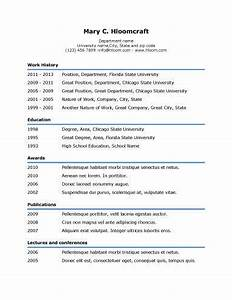 simple resume templates 75 examples free download With easy professional resume template