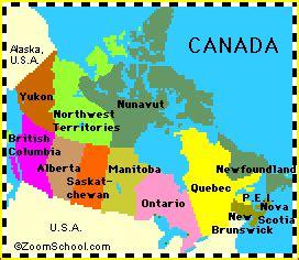 canada geographie anglais