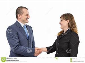 Portrait Of Business People Shaking Hands Royalty Free ...