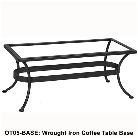 ow standard wrought iron rectangular coffee table base