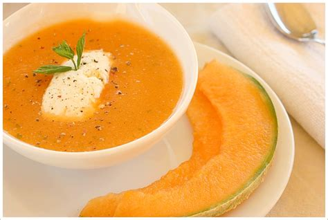 soupe froide de melon recette d 233 t 233 gourmandiseries