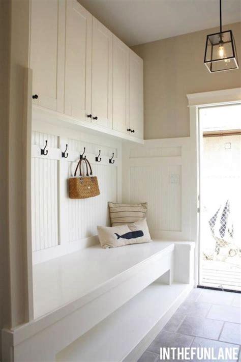 beadboard bench cottage laundry room   fun lane