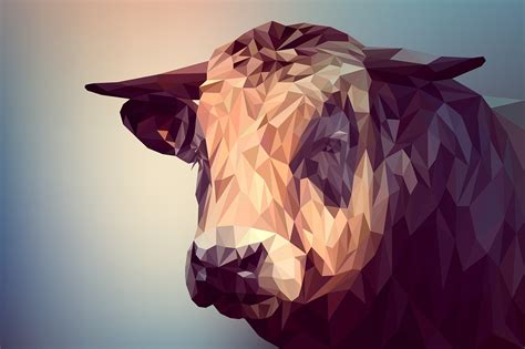 photo illustration polygon poly art  animal vector
