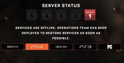 black ops  servers   ps xbox   defcon