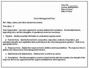 appendix d With sample crisis management plan template
