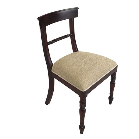 solid mahogany wood regency rope dining chair antique