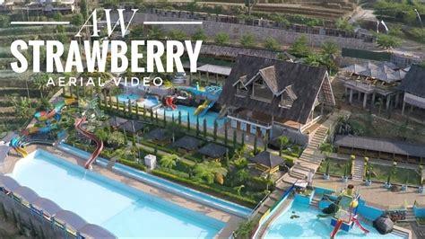 tempat wisata bandung aw strawberry aerial video youtube
