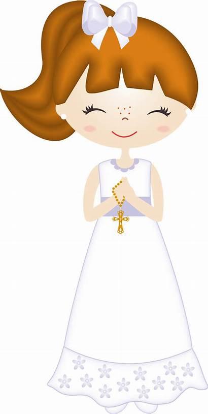 Communion Clip Clipart Comunion Nina Primera Dibujos