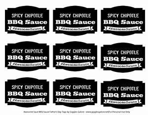 spicy chipotle bbq sauce fathers day awesomesauce With bbq sauce label template