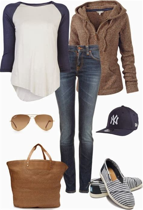 Casual jeans fall outfit