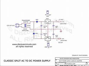 Circuit  Classic Plus And Minus Dc Power Supply   Circuits