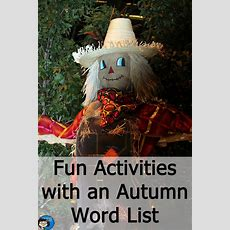 Fun Activities With An Autumn Word List