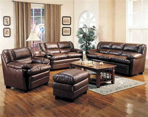 Brown Leather Living Room Sofa Sets (brown Leather Living Fat Grip Bench Press 5 Piece Dining Set With Solid Wood Storage Folding Plastic Bookshelf Into Small Work Benches Incline For Abs Winery