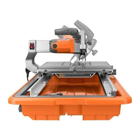 rigid 7 tile saw stand ridgid r4030s tile saw with stand 7 in vip outlet
