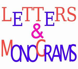 large monogram letters for wall or door in wood metal vinyl With large vinyl monogram letters for wall