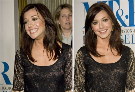 alyson hannigans hairstyle   diamond shaped face