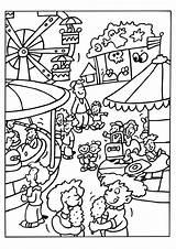 Coloring Park Amusement Theme Printable Getcolorings sketch template