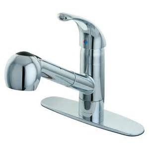 Faucet With Sprayer by Pull Out Sprayer Chrome Kitchen Faucet Target