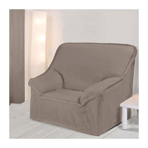 housse extensible canapé 2 places housse fauteuil unie taupe