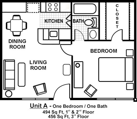 of images one bedroom floor plans small one bedroom apartment floor plans search