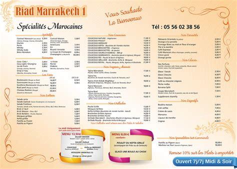 cuisine d été design menu restaurant riad marrakech le bouscat