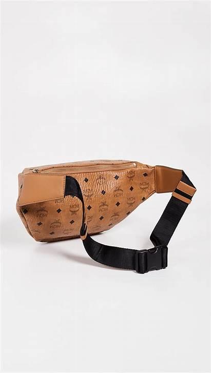 Mcm Belt Bag Medium Stark Brown Bags